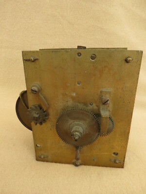 Antique English Fusee Clock Movement For Spares Repair
