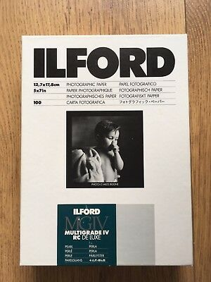 Ilford 5x7 Photographic Paper 100 sheets