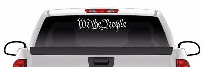 We The People Sticker America patriotic USA Freedom liberty vinyl decal infidel