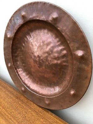 Copper Wall Plate Arts And Crafts Table Dish Hammered