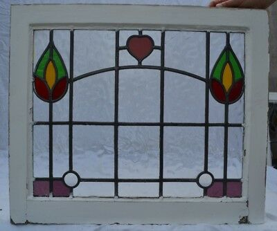 1 British leaded light stained glass window. B766k. WORLDWIDE DELIVERY!