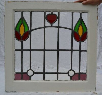 1 British leaded light stained glass window. B766c. WORLDWIDE DELIVERY!