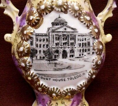 Souvenir Vase Court House Building Lucas County Toledo Ohio Attorney Lawyer