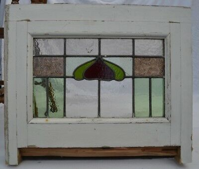 1 British leaded light stained glass window. B636. WORLDWIDE DELIVERY!