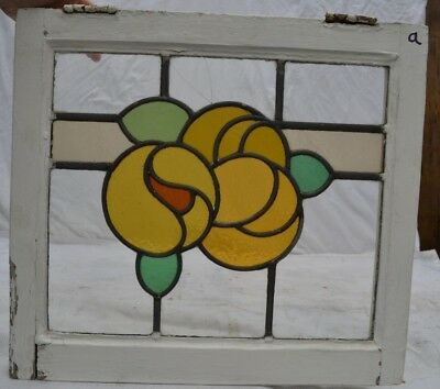 1 English leaded light stained glass window panel. B676a. WORLDWIDE DELIVERY!