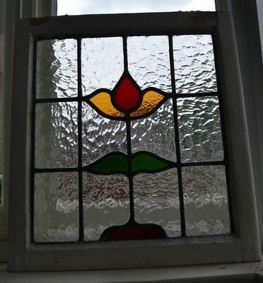 1 British leaded light stained glass window. R617. WORLDWIDE DELIVERY!