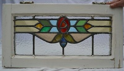 1 British leaded light stained glass window panels. R841b. WORLDWIDE DELIVERY!