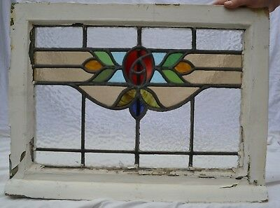 1 British leaded light stained glass window panels. R841a. WORLDWIDE DELIVERY!