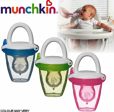 Munchkin Silicone Baby Food Feeder - Assorted Colours  RRP £12.99