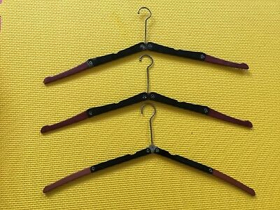 3 RETRO VINTAGE FOLDING COAT HANGERS SHABBY CHIC design no. 666472