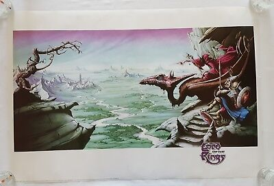 "RaRe. vintage Lord of the Rings II poster 24x36"" Rodney Matthews art 90s (1995)"