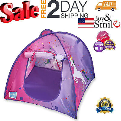 American Doll Camping Tent Dining Fits 18 Dolls Accessories Pink Purple