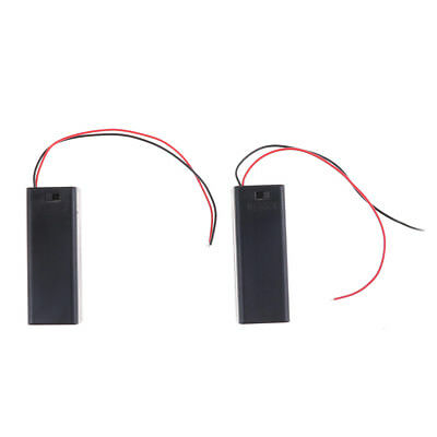2PCS 1.5V AA Battery Holder Case with ON/OFF Toggle Switch Box Pack Cover*v