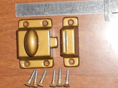 Antique repo Small Metal Cabinet Latch With Catch & screws