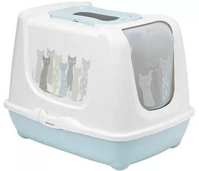 Hooded cat loo enclosed Maasai litter tray toilet box by AJS