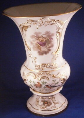 Huge Antique 19thC Meissen Porcelain Scenic Vase Porzellan Scene German Germany