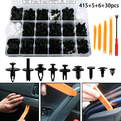 456pcs agrafes garniture carrosserie corps rivet retenue vis pare-chocs fixation