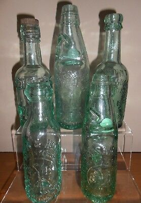 Lovely Group Of 5 Old Antique Mineral Bottles from SPENCER & HOWORTH, ACCRINGTON
