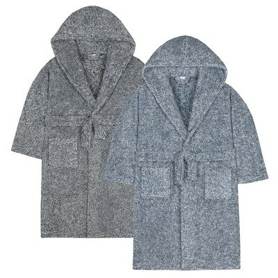 NEW Boys Snuggle Fleece Hooded Dressing Gown Ages 7,8,9,10,11,12,13