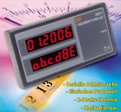 BAUSATZ ELV 12 fach uniwersal LED Display  SSD1