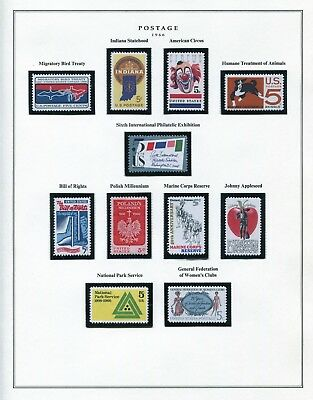 Magnificent Us Collection - 285 Vf/Xf Stamps From 1966 To 1976 (28 Pages)