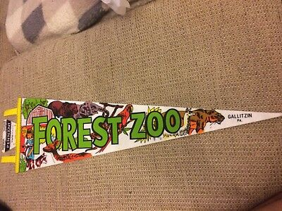 Vintage Forest Zoo Pennant Gallitzin, Pa. Rare NOS Closed Since 1995