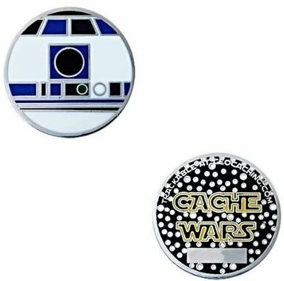 Geocaching Trackable Cache Wars Micro Geocoin - D2R2