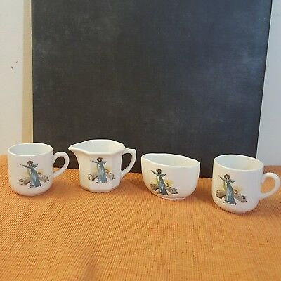 4 piece Grindley Hotelware  Sarah Siddons Actress~ Excellent