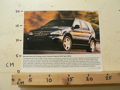 Af196-Photo Factory ? Mercedes-Benz Ml55 Design Study Combines Supercar  1999 ?