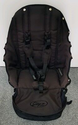 Baby Jogger City Select replacement seat fabric Onyx/black with straps 008