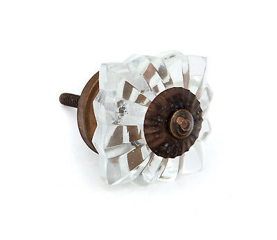 Clear Square Glass Decorative Drawer, Cabinet, Door Knob