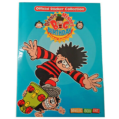 Dennis The Menace Big Birthday Sticker Album Book Magic Box 2001 Beano Comic NEW