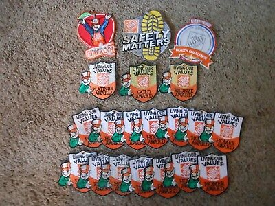 Group Of 20 Assorted Home Depot Employee Award Patches