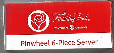 American Greetings The Finishing Touch Pinwheel 6-Piece Server New In Box