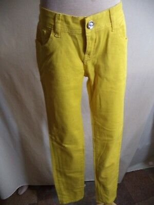 Ge Ge Teen Girls Stretch Jeans Yellow Cotton Blend Size 5 OR 7 NWT MSRP $40