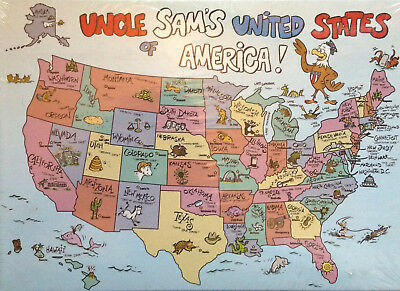 SPRINGBOK USA MAP 60 Piece Jigsaw Puzzle - $17.95 | PicClick