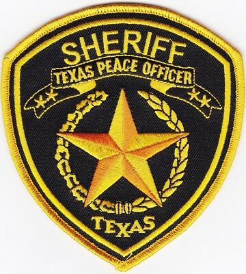 Texas Peace Officer Sheriff  Texas TX Police patch