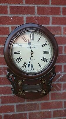 19th C Mahogany Case Fusee Drop Dial Clock S. Dixon,  Hexham,  Northumberland