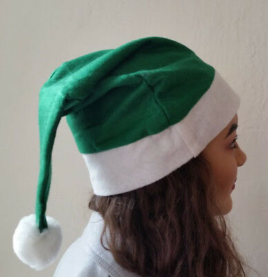 Green and White First Aid Doctor Nurse Celtic Football Fan Santa Hat Christmas