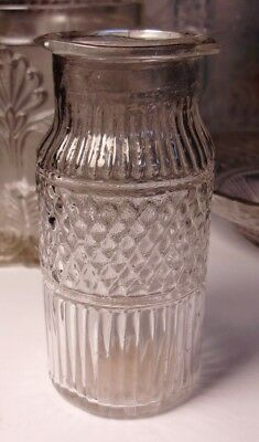 Small  Early Pontil Bottle Circa 1790 3 1/2 Inch Tall