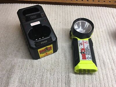 Fireman Pelican Big Ed 3750 Rechargeable Flashlight And Charger - No battery
