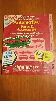 J.C. Whitney 1979 Catalog Parts & Accessories Vintage Collectible Reference