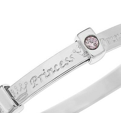 925 Sterling Silver Baby Bracelet Bangle Shower Baptism Christening Present Gift