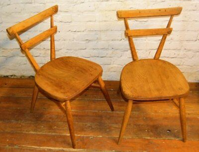 10 available Ercol blue dot vintage stacking childs chairs mid century antique i