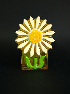Crystal Craft Daisy Napkin Holder Vintage Retro Flower Power Resin Letter Holder