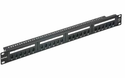 Astrotek 24 Ports UTP Patch Panel CAT6 RJ45 for 19' 1RU Rack Mount Data Network