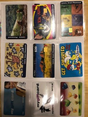 Telstra Vintage Phone Cards Myer Gift Card Jay Jays Smurfs etc Card Lot