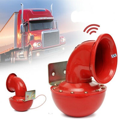 Red Metal Bull Ox Moo Sound Car Truck Electric Horn Loud Whistle 12V 115DB Moooo