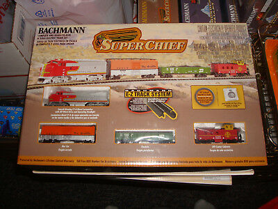 """Bachmann """"Super Chief"""" N Scale Train Set New Factory Sealed"""