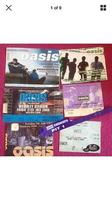 Used Oasis Tickets Plus  Knebworth Band & Ticket